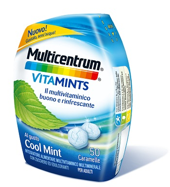 MULTICENTRUM VITAMINTS COOL MINT 50 CARAMELLE